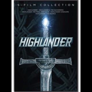 Highlander 5 Movie Collection (Bundle) | Vudu