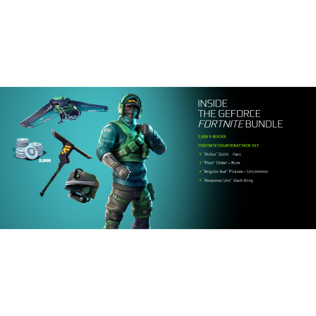 Nvidia Geforce Gtx Fortnite Bundle Code Counterattack Set 2000