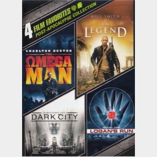 POST APOCALYPSE 4-MOVIE / 🇺🇸 / SD dark city, SD logan's run, SD the omega man, HD i am legend