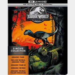 JURASSIC WORLD 5-MOVIE COLLECTION / 🇺🇸 / 4K UHD MOVIESANYWHERE / PORTS
