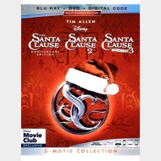 SANTA CLAUSE TRILOGY / set2🇺🇸 / Santa Clause 1, 2, 3 / HD MOVIESANYWHERE, HD VUDU / PORTS