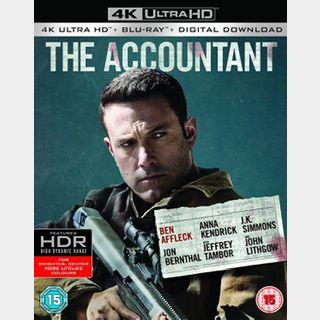 The Accountant (2016) / 🇺🇸 / 4K UHD MOVIESANYWHERE, 4K UHD VUDU / PORTS