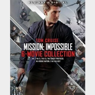 MISSION: IMPOSSIBLE 6-MOVIE COLLECTION / dwr1🇺🇸 / $2 clearance! / 🍿😈 / HD VUDU / NO PORT