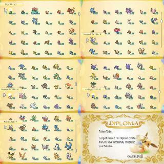 Pokemon Let's Go Shiny Pokedex
