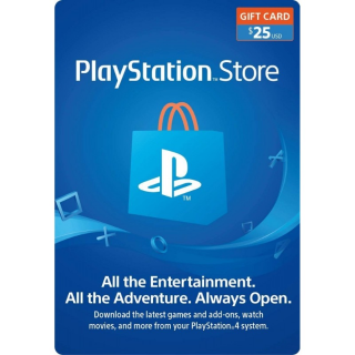$25 Playstation Store (INSTANT DELIVERY)