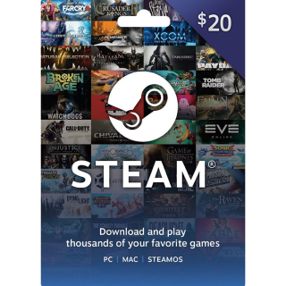 $20.00  Steam (INSTANT DELIVERY)