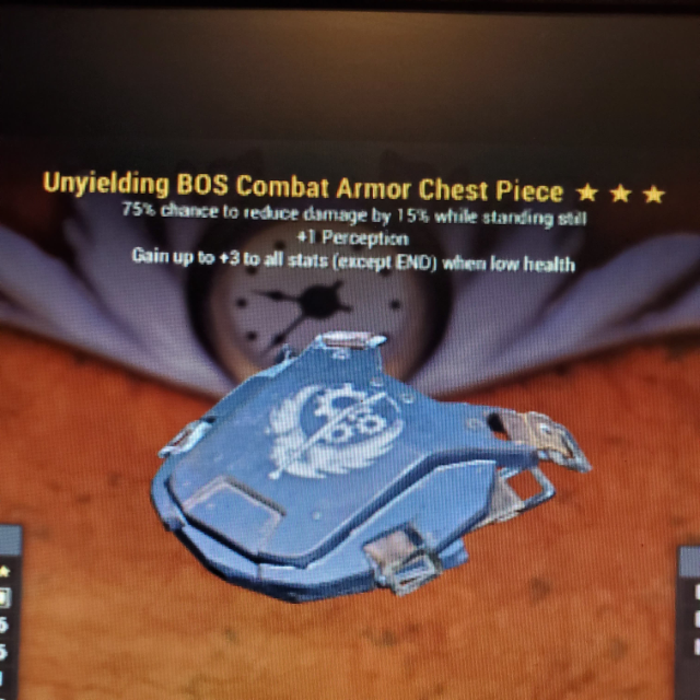 Apparel   3*Unyielding BOS Chest