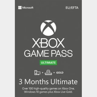 3 Month Xbox Game Pass Ultimate Xbox One / Win 10 PC