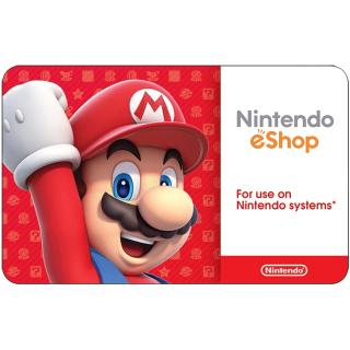 $25.00 Nintendo eShop (5 x $5 cards)
