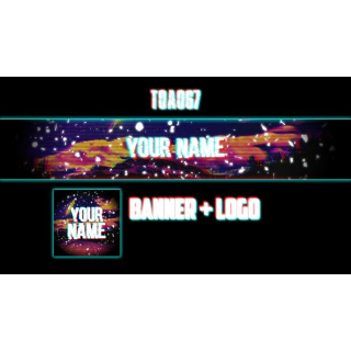 I will Create a Youtube Banner and a Logo