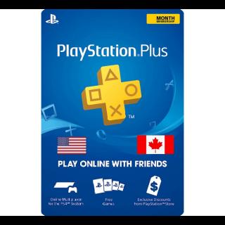 Playstation Plus 30 Days Trial UK Card