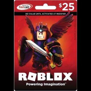 Roblox $25 Game Card