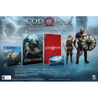 God of War Digital Deluxe Edition PlayStation 4 Region USA Instant Delivery