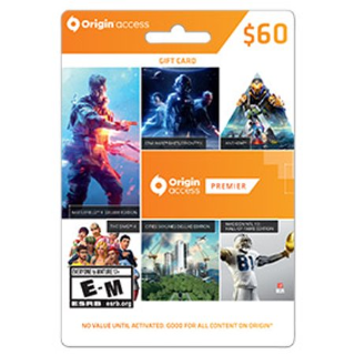 EA - Origin $60 Wallet Card PC Digital  Region USA