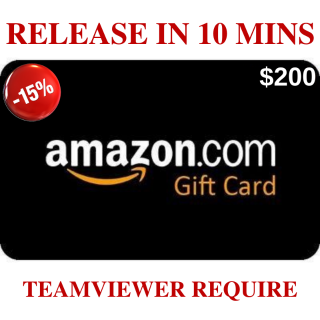 $200 Amazon ~ 10 mins release~15% OFF