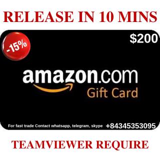 $200 Amazon ~ Instant code ~ 18% Off
