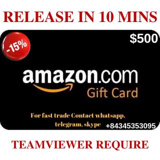 $500 Amazon ~ 10 mins release