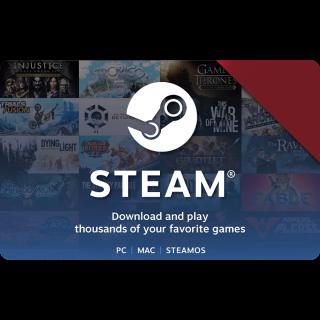 $50.00 Steam Gift Card x 6 (total $300)