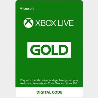 XBOX LIVE GOLD 12 MONTH [AUTO DELIVERY]