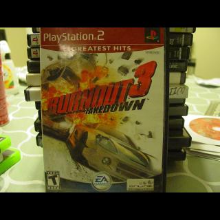BURNOUT 3  TAKEDOWN  / PS2
