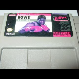 RIDDICK BOWE BOXING SNES