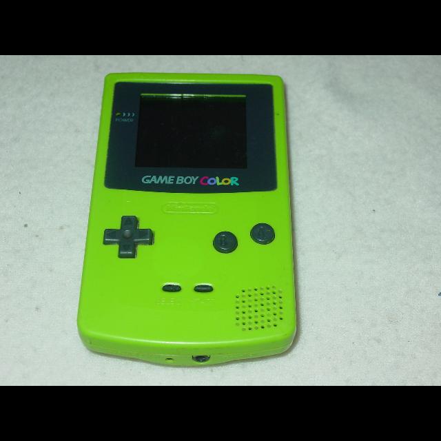 gameboy color kiwi lime green handheld system game boy