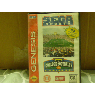 COLLEGE FOOTBALL'S  SEGA GENESIS
