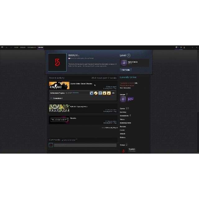 13 Year Old Steam Account With Cs 16 Half Life