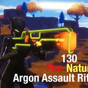 Argon Assault Rifle | 130 Nature and Fire Argon Assault Riffle 300/300