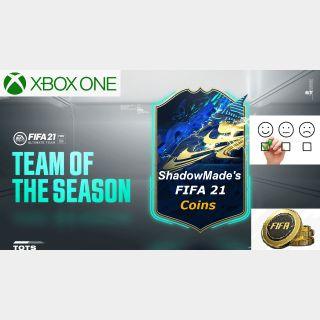 ShadowMade's FIFA 21 Coins | 1 000 000x | XBOX ONE