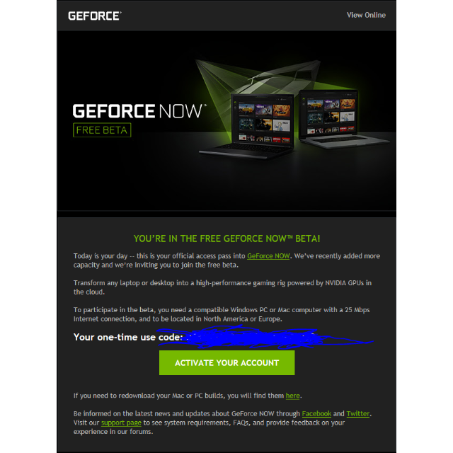 nvidia experience not connecting to internet