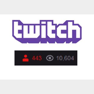 I will offer you twitch live viewer