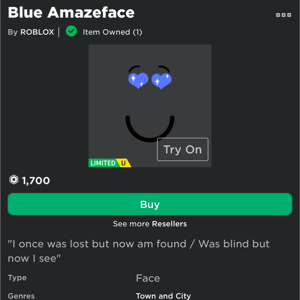 Limited | blue amazeface