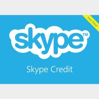 $10.00 Skype credit Global