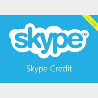 $50.00 Skype credit All country