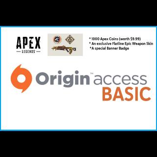 1 Month Origin Access Basic DIGITAL KEY GLOBAL [INSTANT DELIVERY] Apex Legends Exclusive Skins