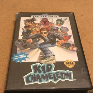 Kid chameleon in box