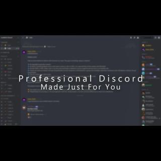 I will create Customized Discord Server
