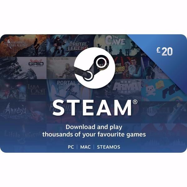 Steam £ 20 Gift Card uk - Steam Gift Cards - Gameflip