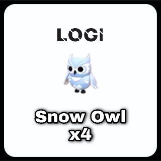 Pet   Snow Owl x4