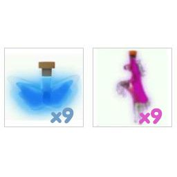 Potion   9x Ride & 9x Fly Potions