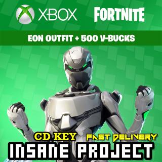 Fortnite Eon Skin Bundle + 500 V Bucks Xbox ONE