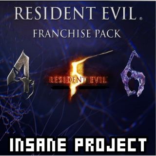 Resident Evil 4/5/6 complete Pack (PC/Steam) 𝐝𝐢𝐠𝐢𝐭𝐚𝐥 𝐜𝐨𝐝𝐞 / 🅸🅽🆂🅰🅽🅴 - 𝐹𝑢𝑙𝑙 𝐺𝑎𝑚𝑒