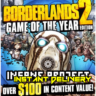 Borderlands 2 Game of the Year Edition (PC/Steam) 𝐝𝐢𝐠𝐢𝐭𝐚𝐥 𝐜𝐨𝐝𝐞 / 🅸🅽🆂🅰🅽🅴 - 𝐹𝑢𝑙𝑙