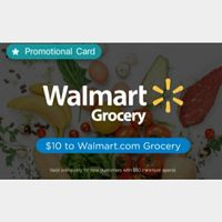 $10.00 Walmart Promotional Card For Grocery