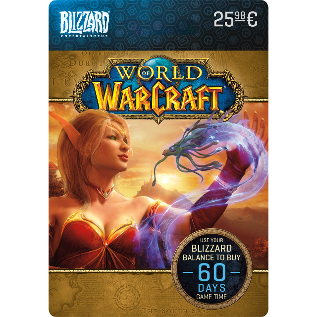 World Of Warcraft 60 Days Gametime Card Wow Eu Other Gift Cards
