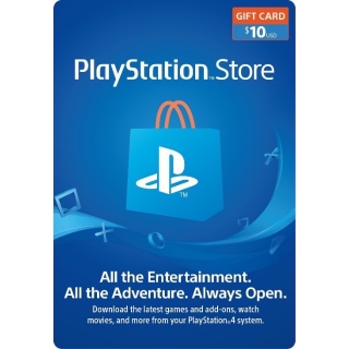 $10 Playstation store (AUTO DELIVERY) (US)