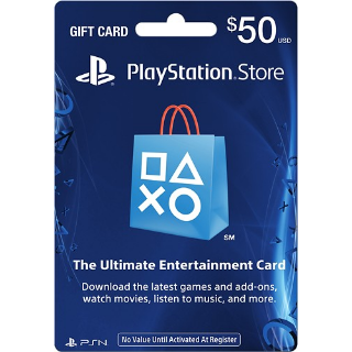 50$ PSN Gift Card-Instant Delivery