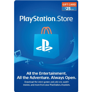 $25.00 PlayStation Store - (USA INSTANT)