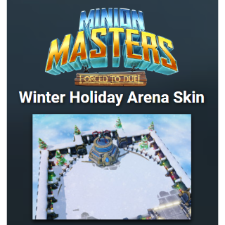 Minion Masters Winter Holiday Arena Skin |Instant Key|